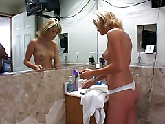 Hot Blonde Fucked In The Bath