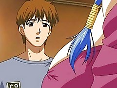 Blue Head Busty Hentai Anime Babe Rammed