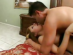 Arabian Brunette Fucked In Shaved Pussy On Red Bed