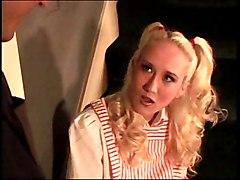 Fucking Flat Blond Nurse On The Stairs