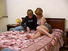 Hot Redhead Russian Mature And Young Guy