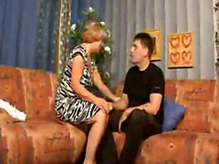 Older Mom Seducing And Fucking Her Chubby Stepson