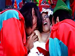 Santa\s Horny Elves Take Care Off His Busty Wife