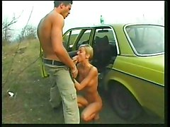 German Mercedes Trip With Cute Whore