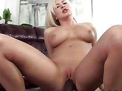 Busty Blond Pornstar Gets Banged By A Hung Black