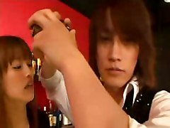 Japanese Slut Seduces A Bartender