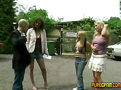 3 Brit Girls And One Guy