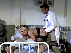 Blonde Slut In Lingerie Ganbanged In A Hospital