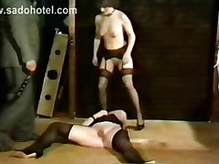 Woman Got Her Ass And Pussy Licked By Horny Slave And Pees On Her Face While A Guy Hits Her With A Whip