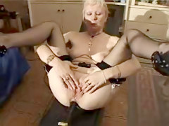 French Shaved Blonde Granny