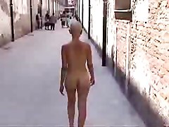 Nude In Public Shaved!
