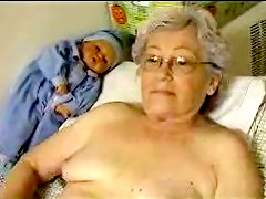 Old Mature Lady Playing With Toy