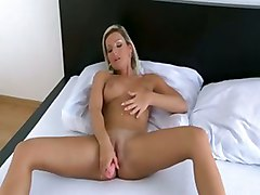 Blonde Chick & Her Toy