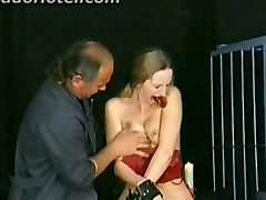 Master Puts Clamps On Great Tits Of Beautiful Girl With Nice Tits