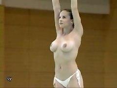 Nude Gymnast Practices