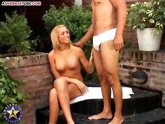 Blond Tgirl Fuck Outdoor