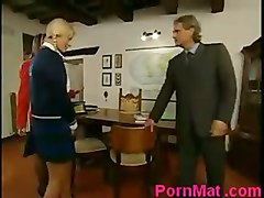 Italian Threesome With Mature And Teen Schoolgirl