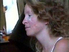 Amateur House Wife Facial