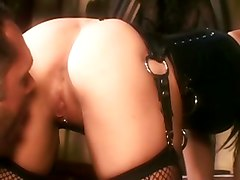 Deepthroating And Fucking In Boots And Fishnet Lingerie