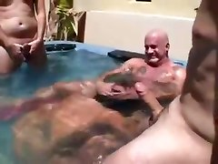 Summertime Pool Gangbang