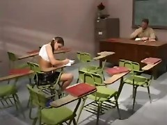 Skank Finds Out What It Is To Cheat At School