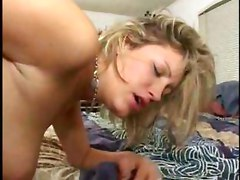 Blonde\s Face Drenched With Load