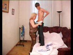 Mature Mom With Huge Tits Rides College Stud Cock