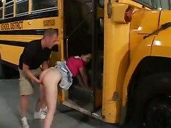 Teen Fucked Hard On School Bus