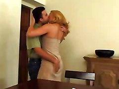 Sexy Blonde Mature In Pantyhose Loves Man&039;s Milk