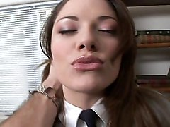 A Cute Sexy Brunette Schoolgirl Having Sex