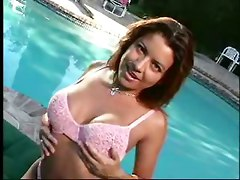 Gina Ryder Titfucked By The Pool