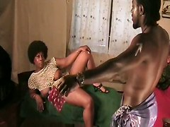 Mature Ebony Couple Has Sex