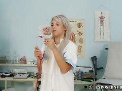 Naughty Nurse Sabina Pussy Gaping At Clinic