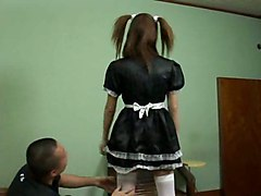 Jav Pigtal Maid Stocking Cosplay Vol 2