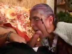Sex Eager Granny Eats His Prick