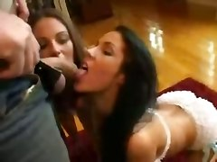 Extremely Hot Double Blowjob