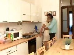 Fucking The Old Slut On Her Kitchen Table