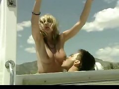 Rocco Sprays A Blonde With A Load