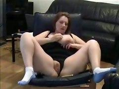 Self Recorded Mature Slut Masturbating