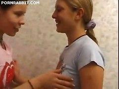 Teen Lesbian Girls Pet Their Nude Holes