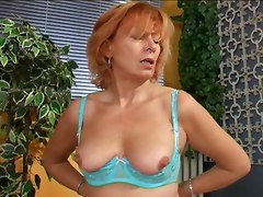 Horny Mature Woman Having Dildo Time