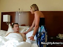 Hot Mature Blonde Milf Sexy Suz Fucks Her Sons Younger Frie