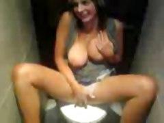 Hot Girl In Toilet
