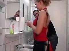 Slut Blond In Toilet Men