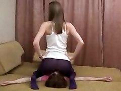 Girl-on-girl Facesitting In Stockings