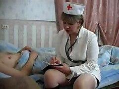 Nurse Mature An Young Boy