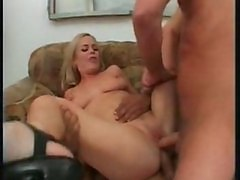 Slut Crazy Blonde Does Two Guys Good And Hard