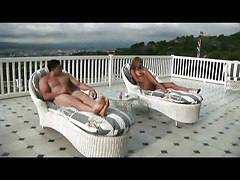 Costa Rican Housewife Fucks On Rooftop With Friends