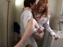 Dirty Asian Wife Fucking In A Bathroom