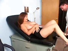 Lusty Doctor Eats Titty Patient